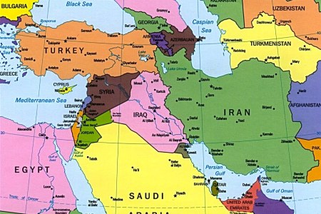 map of middle east and eastern europe