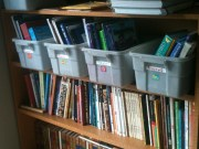 Homeschooling books waiting for the 1st day!