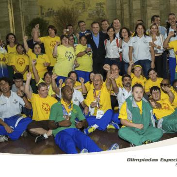 Homenagem para a Delegação Brasileira