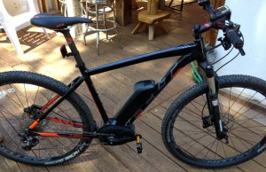 Hub Cyclery in Idyllwild rents out this Felt Electric bike. Photo: Julie Pendray.
