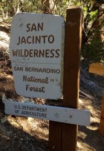Sign on Deer Springs Trail