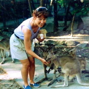 Meeting kangaroos in Queensland, Australia, 1994. Photo: Julie Pendray.