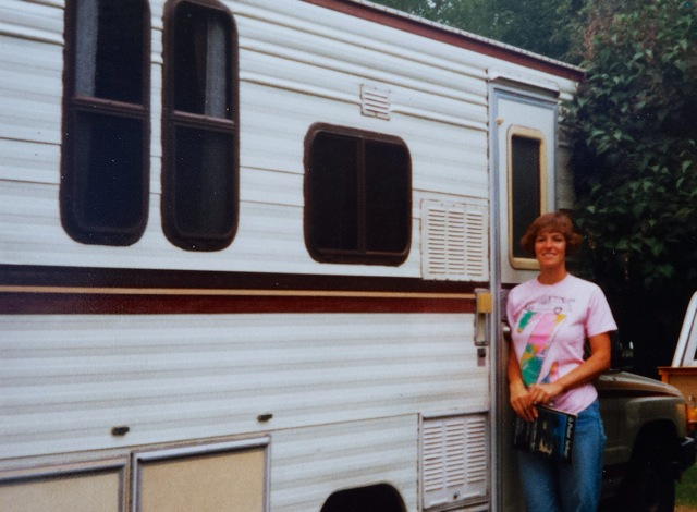 Me with our motorhome in Maine