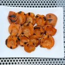 GRILLED APRICOTS WITH HONEYCOMB