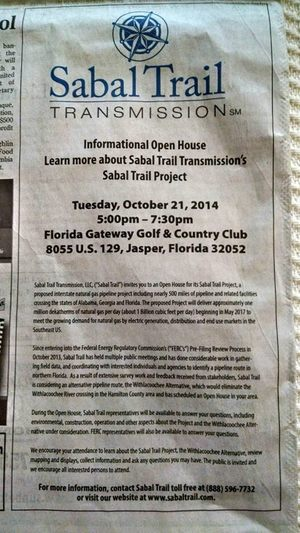 300x533 5-7:30 PM Tue 21 Oct 2014 @ Florida Gateway Golf & Country Club, in Sabal Trail at Jasper, FL Country Club, by John S. Quarterman, for SpectraBusters.org, 21 October 2014