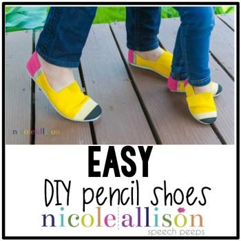 EASY DIY Pencil Shoes