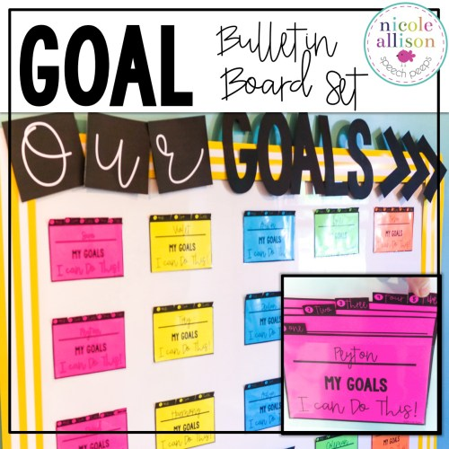 Goal Bulletin Board-Making Goals Visual and Accessible