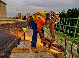 Jimbo the Ironworker cutting rebar #1