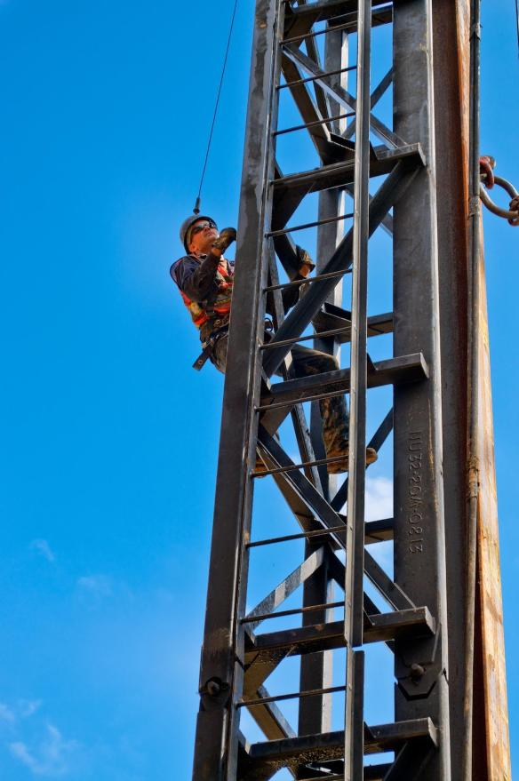 """Pile Driver Climbing the """"Hammer"""""""