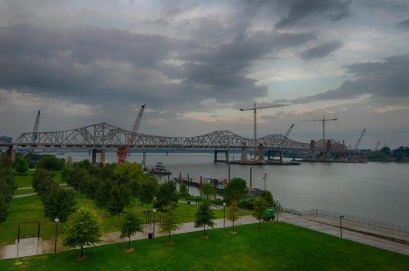 Ohio River Bridge Towers on the First Day of Fall 2014