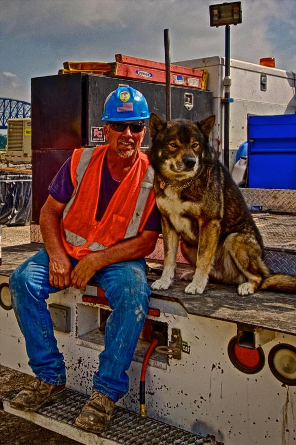 Chris Bixenman and his wolf hybrid Montana.#1