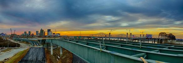 Ohio River Bridges Project Downtown Crossing Panorama
