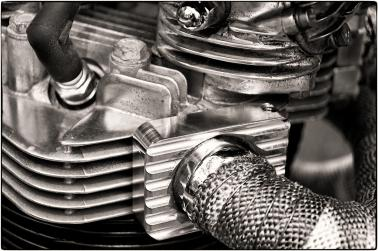 Vintage Motorcycle Engine Detail