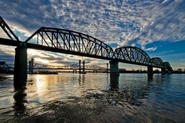 Sunset on the Downtown Span