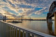 Sunset on the Downtown Span in HDR