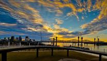 Waterfront Park Ramp and Sunset #2