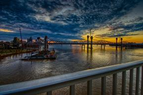 Sunset over the Downtown Span in HDR