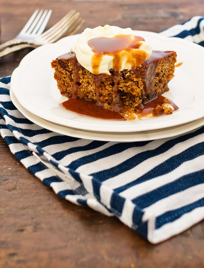 Sticky Date Bourbon and Cola Pudding