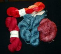 haul of Lisa Souza yarn from Stitches East 07