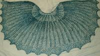 Julia shawl, faster version, Wagtail 1 skein