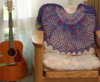 The silk Michelle shawl after blocking