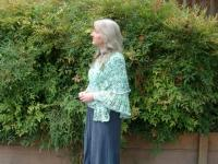 The yarn Laura dyed; Julia shawl pattern