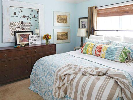 Το θαλασσί χρώμα ταιριάζει φανταστικά σε υπνοδωμάτια και επιπλέον χαρίζει ηρεμία και χαλάρωση.