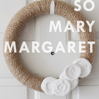 That's so Mary Margaret: Easy DIY wreath