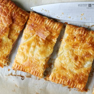 Dinner in a pinch, made to impress! Puff pastry with ham & Gruyère