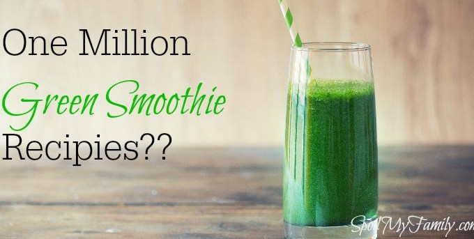 Green smoothies are a great part of a healthy day. Right here in one place you will find one million green smoothie recipes. Crazy, right? www.spoilmyfamily.com #greensmoothies