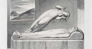 """Robert Blair, """"The Soul hovering over the Body reluctantly parting with Life"""" William Blake, via Wikimedia Commons"""