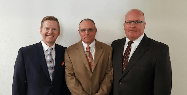 Photo of new Mount Spokane Stake President and counselors, left to right Matthew Borders, Jed Mckinlay, Darin Christensen/Contributed photo