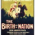 Poster for the American film 'The Birth of a Nation' (1915) for a showing at the Academy of Music