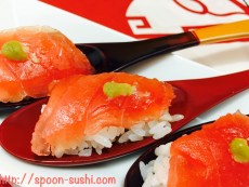 MAGURO with WASABI SpoonSushi!4