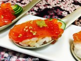MAGURO, with IKURA, Cucumber, Sesame and WASABI SpoonSushi!4