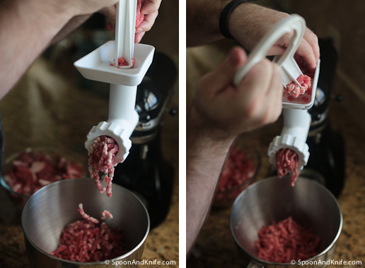 Grinding meat for gluten-free meatloaf