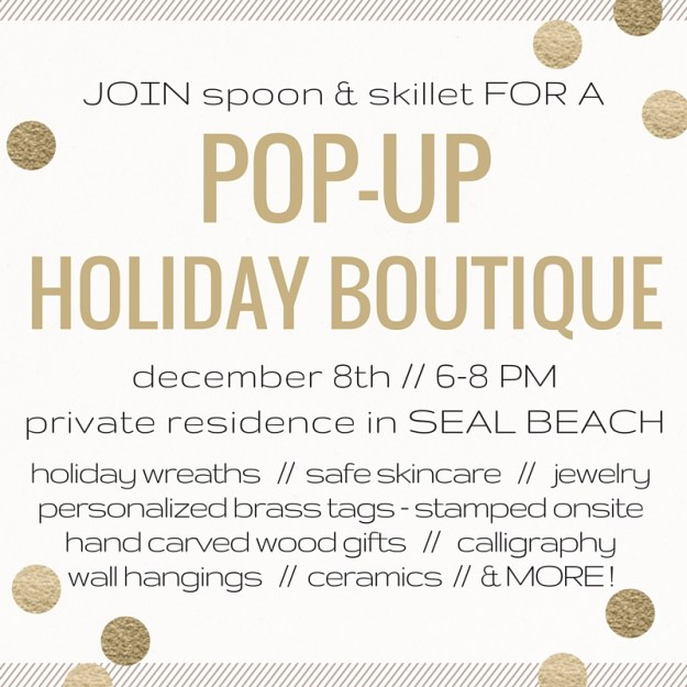 Pop-Up Holiday Boutique