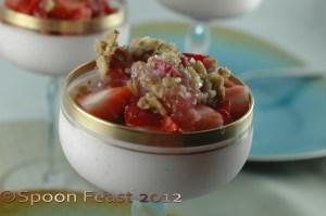 Strawberry Cheesecake rhubarb compote