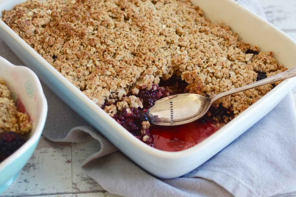 Healthy Apple & Summer Berry Crumble