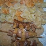 brochettes de dinde aux pommes
