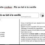 fiche riz au lait cookeo