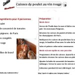 CUISSE POULET au vin rouge  cookeo fiche
