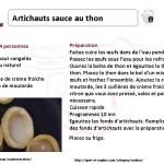 artichaut sauce au thon