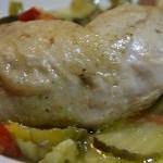 cuisses poulet poivrons courgettes