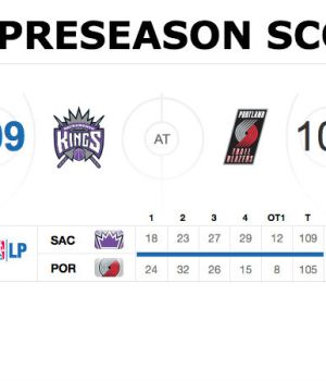 NBA preseason scores