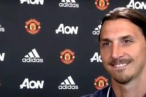 Zlatan Ibrahimovic of Manchester United