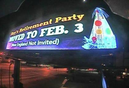 Ray Lewis' retirement party has been unofficially moved.