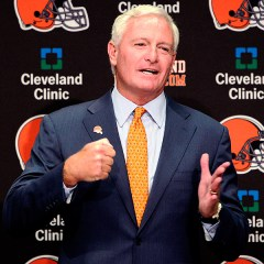 New Browns owner Jimmy Haslam has apologized to fans for the recent scrutiny he's come under. Image Credit: Jay LaPrete, AP.