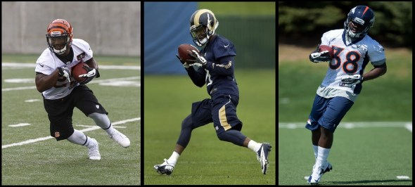 Could Giovani Bernard, Tavon Austin or Montee Ball capture of the OROY? (Credit: ESPN & Sports-Illustrated)