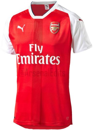 Arsenal 2016/17 home kit